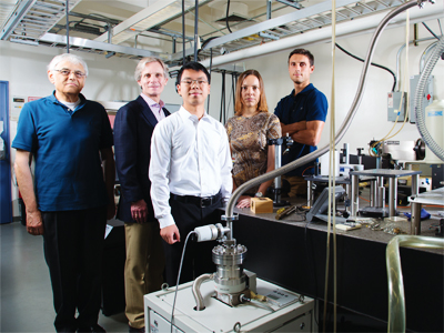 The Artificial Graphene team—Diego Scarabelli, Yuliya Kuznetsova, Sheng Wang, Shalom Wind, and Aron Pinczuk.