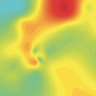 Air quality heatmap of Beijing in 2013