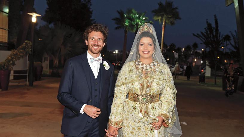 Charles Courtiol and Kelthoum Benabdeljelil's wedding in Morocco.