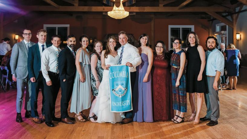 Group picture at Chris Corwin and Caitlin Kevins wedding.